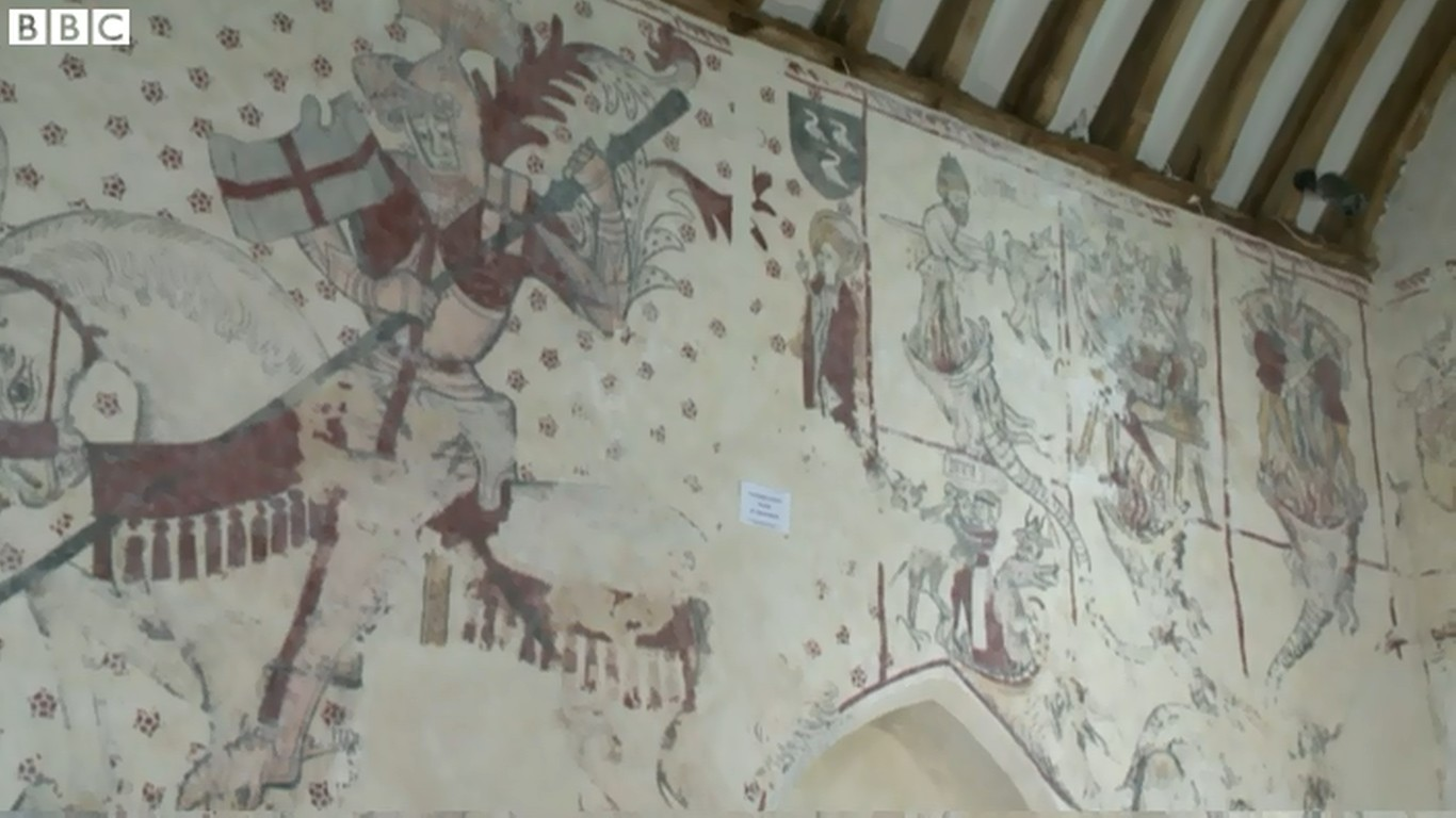 Newly revealed tudor wall paintings now on view in welsh church wallpaintings amipublicfo Image collections