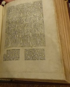 The prologue from Caxton''s Golden Legend: the largest woodcut he ever produced