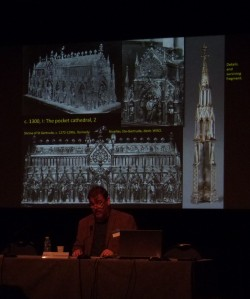 Professor Timmermann with his pocket cathedral