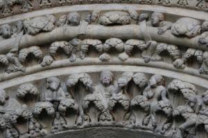 Detail of the Portico de la Gloria, Santiago de Compostela, late twelfth century