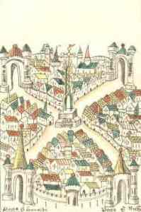 Map of Bristol, 1479