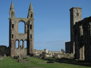 St Andrews Cathedral, the interior looking east