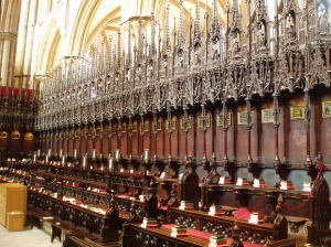 Choir stalls at Lincoln Cathedral, via Aidan McRae Thomson on Flickr