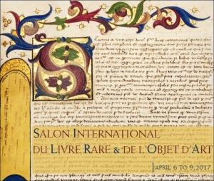 Poster Salon International du livre rare & de l'objet d'art