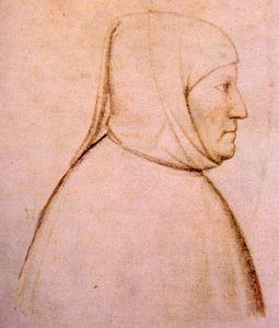 Altichiero, ritratto di Francesco Petrarca, c. 1370-1380