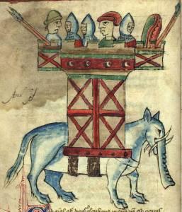 Elephant, Kongelige Bibliotek, Gl. kgl. S. 1633 4º, Folio 6v