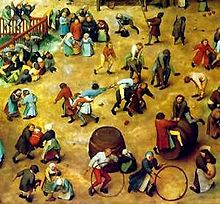 Peter Bruegel the Elder, detail of Children's Games, 1560