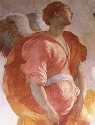 Pontormo, Jacopo_Annuncation, detail, ca. 1527-8, Capponi Chapel, S. Felicita, Florence