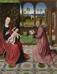 St Luke Drawing the Virgin and Child' by Dieric Bout the Elder