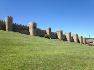 Medieval fortified walls of the city of Ávila, Spain