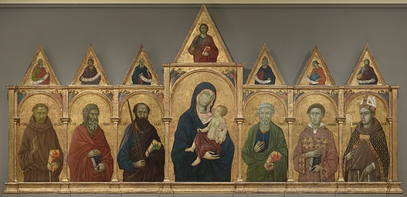 Virgin and Child with Saints Francis Andrew Paul Peter Stephen and Louis of Toulouse