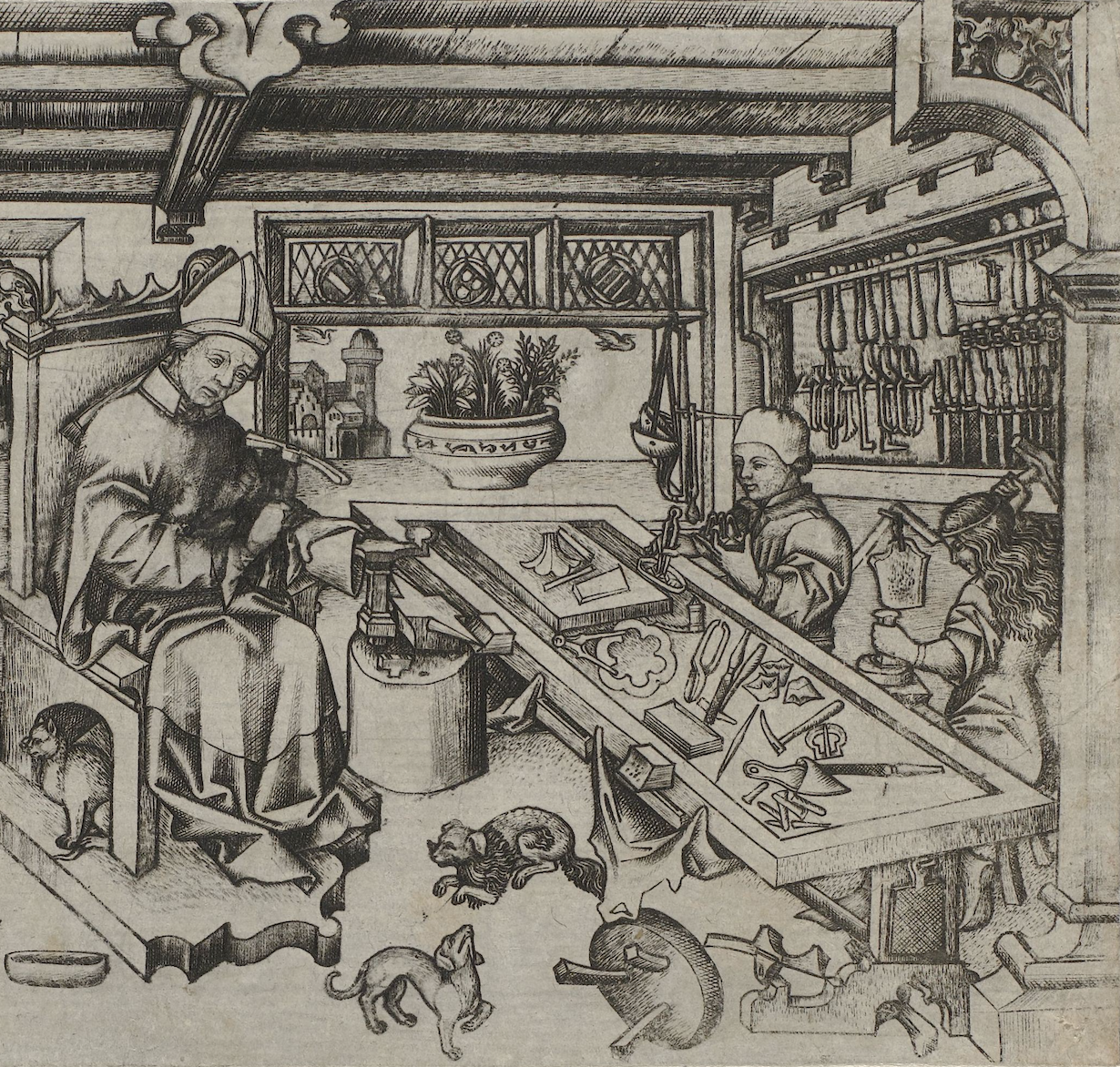 St Eligius in His Workshop, c.1450-1460, Rijksmuseum Amsterdam, Amsterdam