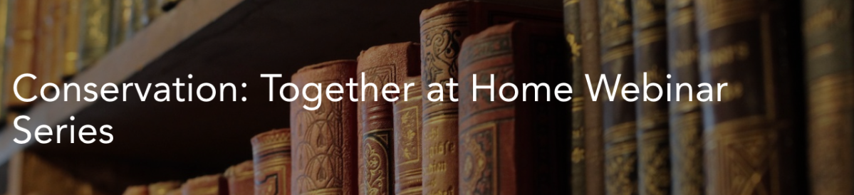 ICON Conservation - Together at Home Webinar Series