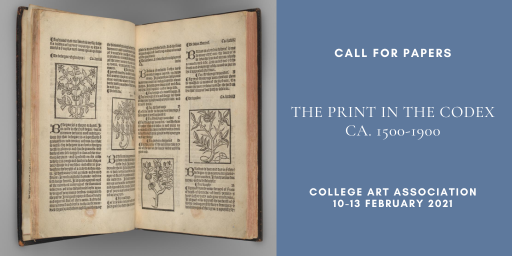 CFP: The Print in the Codex ca. 1500 to 1900, deadline 16 September 2020